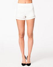 Mesh Insert Hem Stripes Shorts