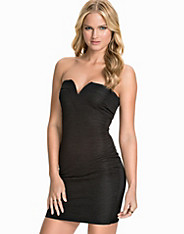 Bandeau Ruffle Fabric Bodycon