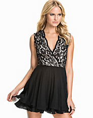 Kick Out Lace Top Dress