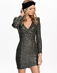 Wrap Sequin Power Dress