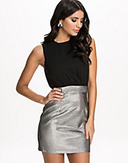 Metallic Skirt Two In One Dress