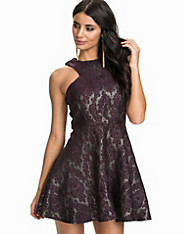 Jacquard Metallic Kick Out Skater Dress