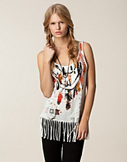 Feather Fringe Vest