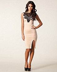 Club L Crochet Det Bodycon Dress