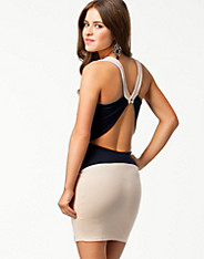 Colour Block Cross Back Dress