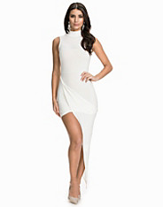 High Neck Side Rouched Dress club l