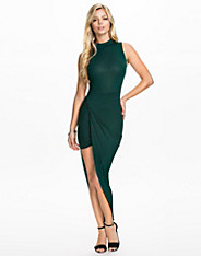 High Neck Side Rouched Dress