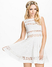 Lace Panel Insert Dress