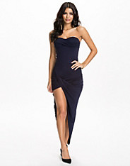 Bandeau Ruched Side Dress