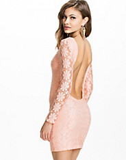 Floral Lace Detail Lowback Bodycon Dress