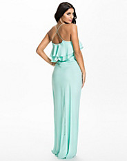 Frill Detail Cross Back Maxi Dress