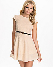Bubble Sequin Belt Skater Dress