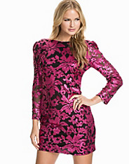 Brocade Sequin Lace Mesh Bodycon