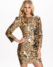 V Neck Heavy Sequins Dress