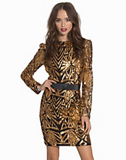 Aztec Sequin Detail Bodycon Dress