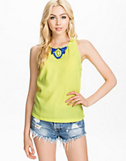 Lime Top With Necklace