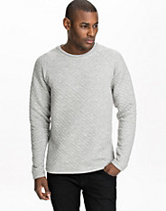 Quilt Sweat LS Crew Neck