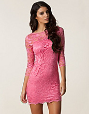 Slash Neck Lace Dress
