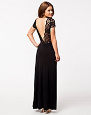 Deep V Back Maxi Dress