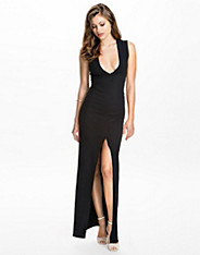 Deep V Split Maxi Dress