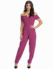 Narrow Leg Bardot Jumpsuit