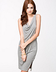 Draped Slit Dress