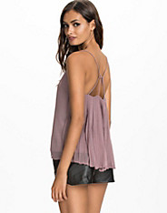 Pleated Back Strap Top