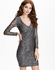 Lace Slim Draped Dress