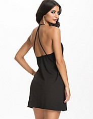Deep Back A-Line Dress