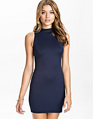 High Neck Scuba Dress