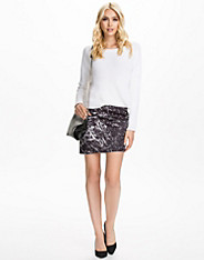 Assymetric Printed Scuba Skirt