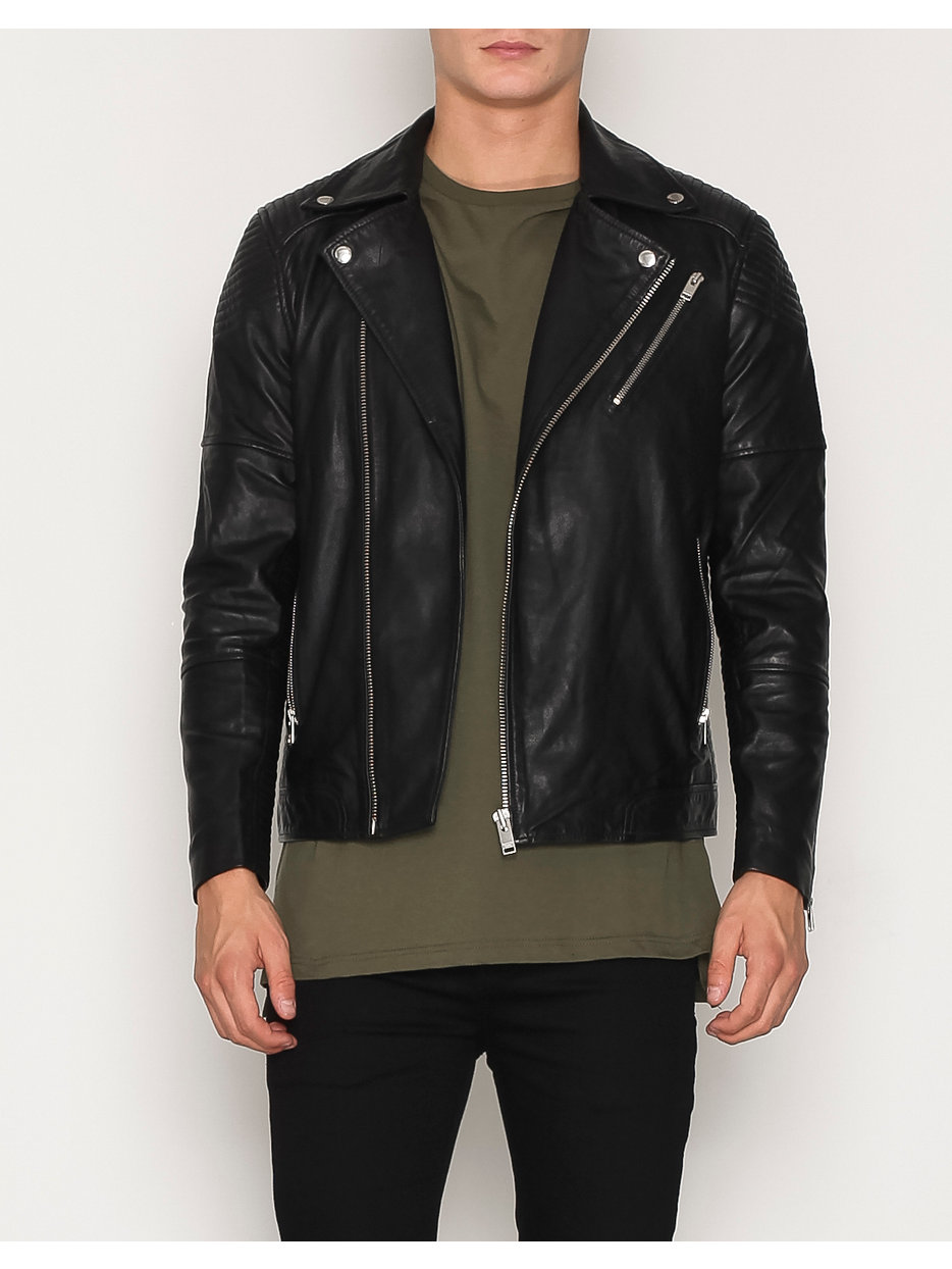 SHNLEEDS BIKER LEATHER JACKET